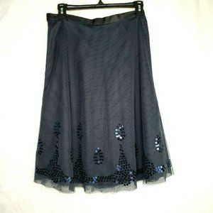 Old Navy Black Tulle Flare Skirt Lined Size 0